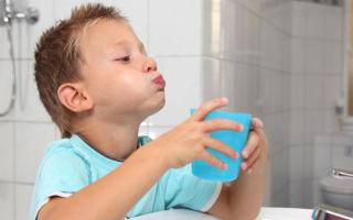 Как научить ребенка правильно полоскать горло