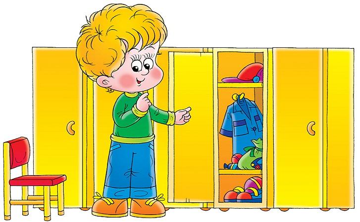 вещи для детского сада в шкафчике