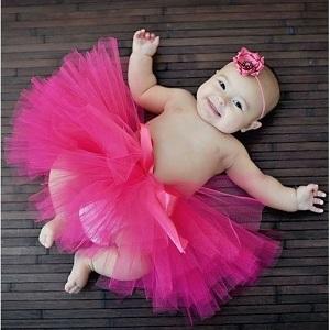 полугодовалая малютка в платье