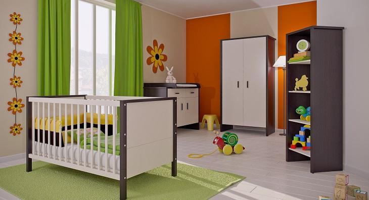 Комната для новорожденного в современном стиле