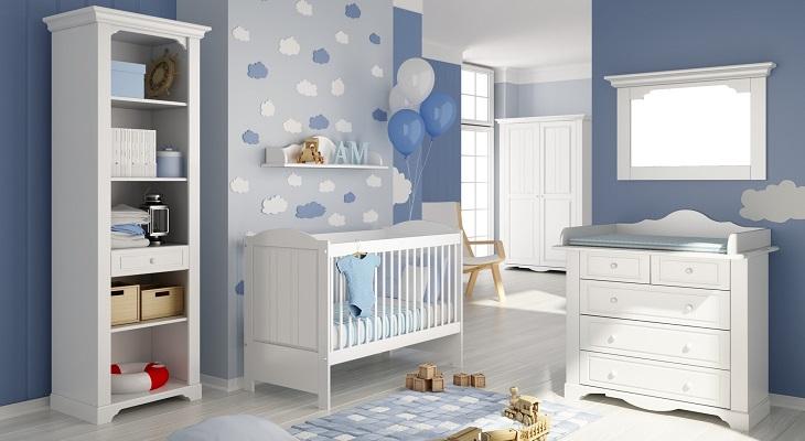 Голубая комната для младенца