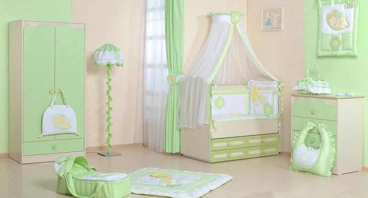 Зеленая комната для младенца
