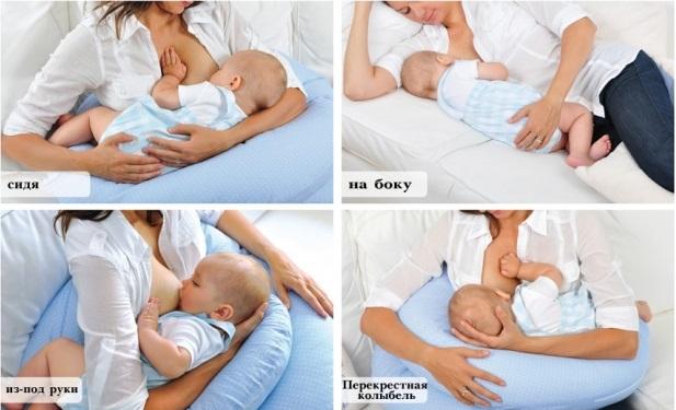 Позиции грудного вскармливания