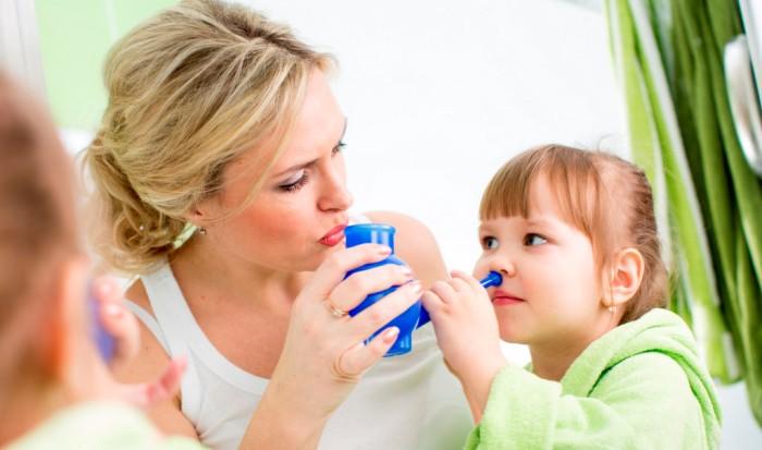 Промывание носовых проходов при синусите