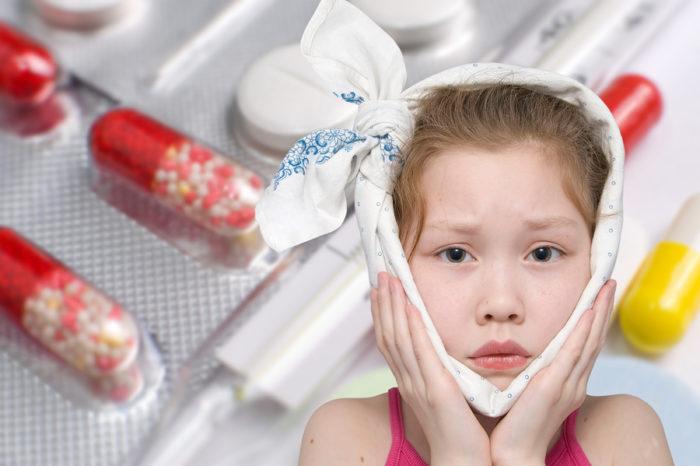 девочка и лекарства от паротита
