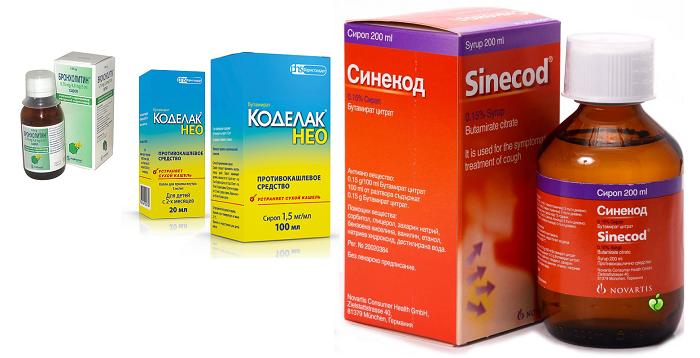 Противокашлевые сиропы для детей от кашля