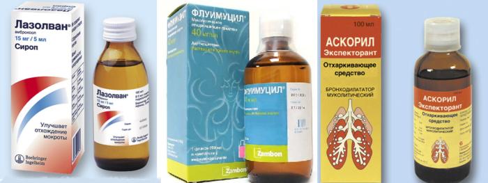 Муколитические сиропы для детей от кашля